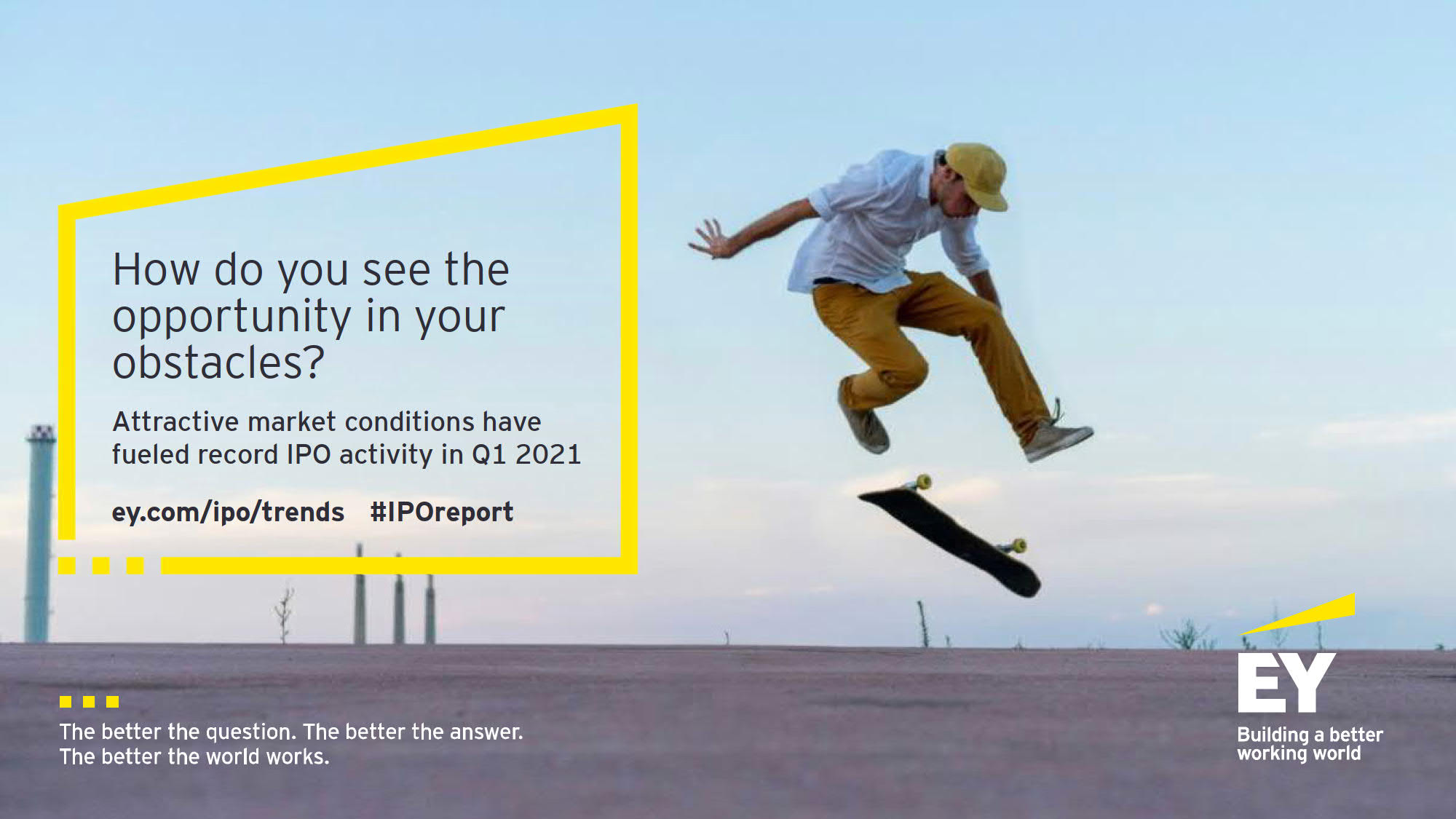 How do you see the opportunity in your obstacles? Attractive market conditions have fueled record IPO activity in Q1 2021
