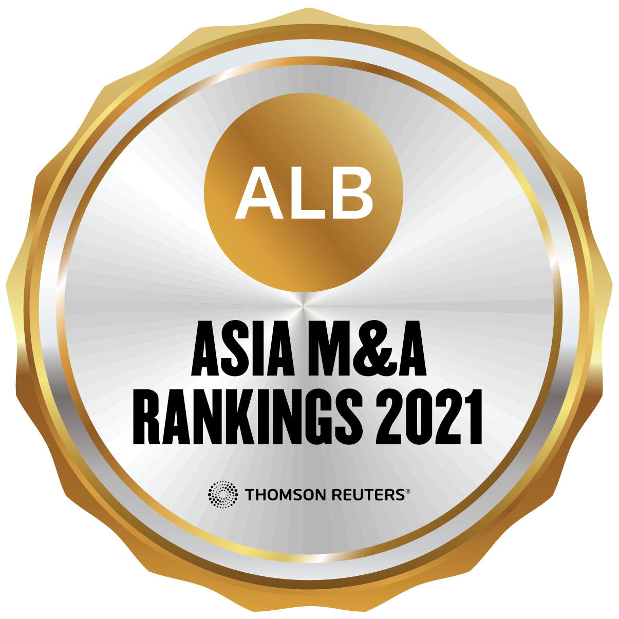 """""""Notable Firm"""" by ALB 2021 M&A Rankings for Hong Kong"""