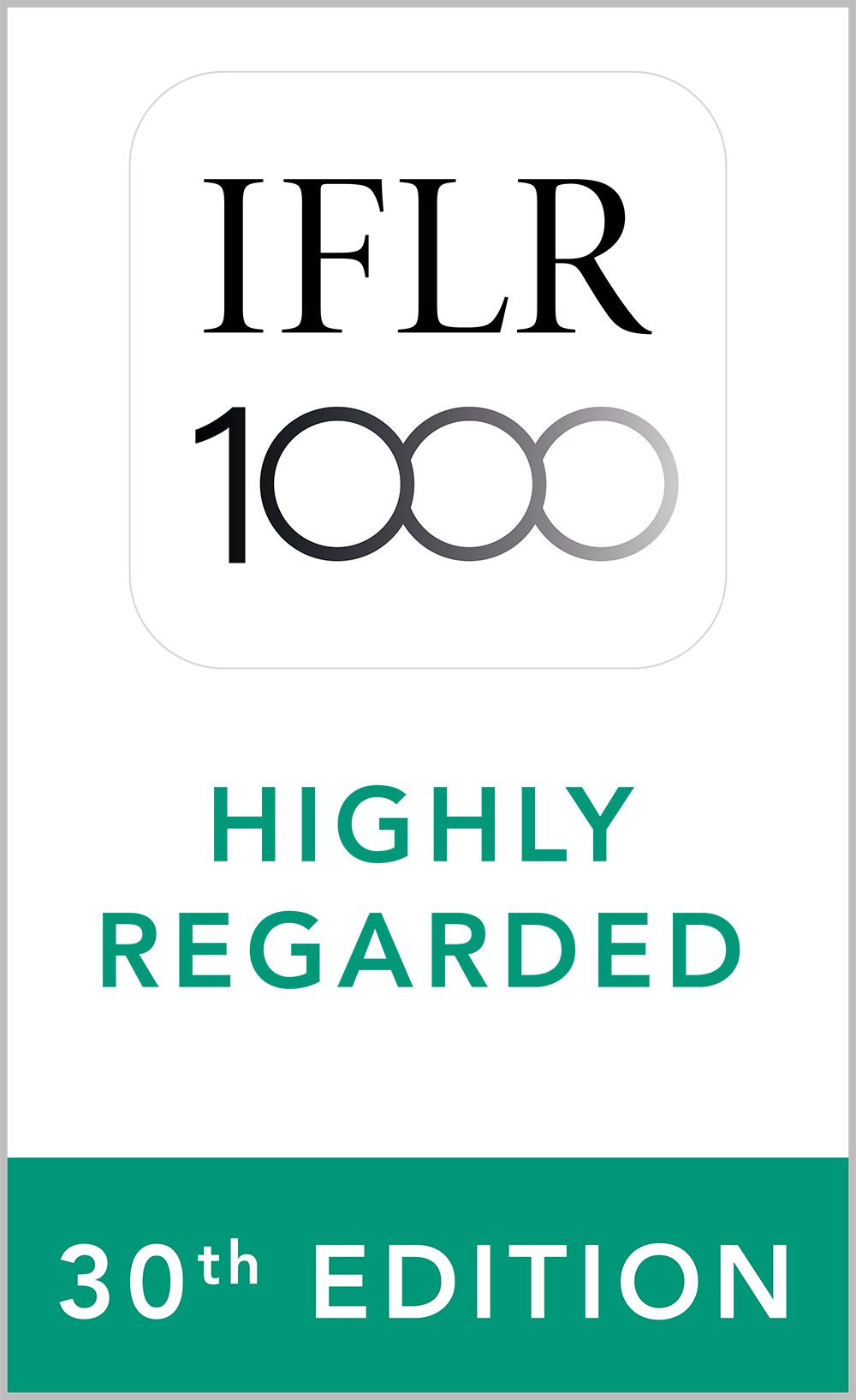 Highly Regarded Leading Lawyer in Capital markets: Equity, M&A, Private equity and Restructuring and insolvency practices by IFLR1000, 2021