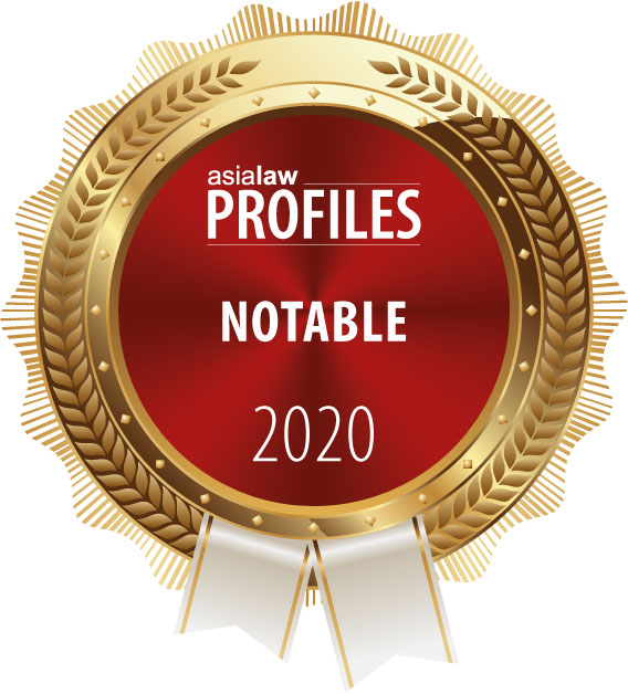 """Ranked """"Notable"""" Firm by Asialaw Profile 2020"""