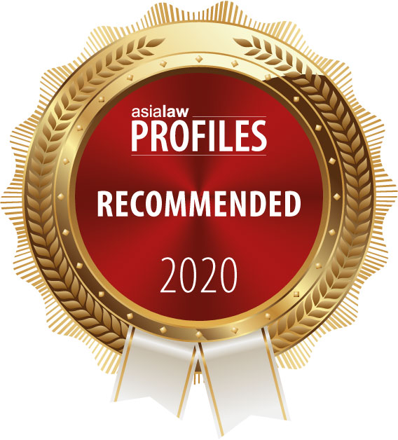 "Ranked ""Recommended"" Firm by Asialaw Profile 2020"