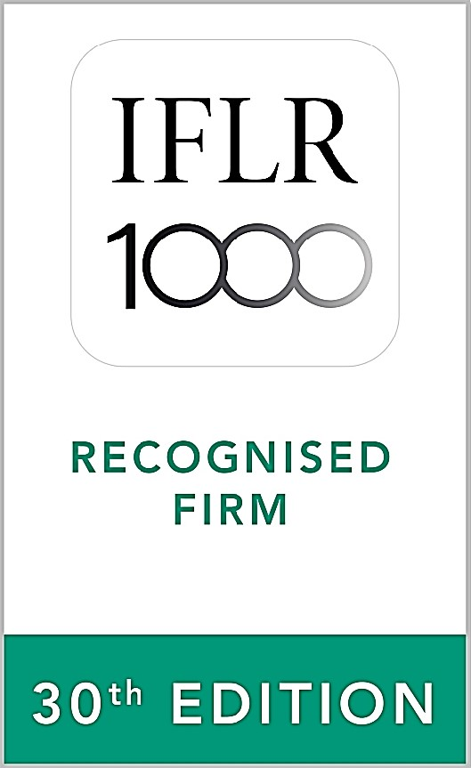 "Ranked ""Notable"" Firm by IFLR1000, 2021 edition"