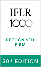 Notable Firm in Capital Markets: Equity, M&A , Restructuring and Insolvency by IFLR1000 2021